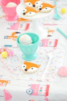 DIY Sprinkles Placemats! Ice cream + fox party by Kara Allen | Kara's Party Ideas for Scotch Brand.  #sponsored