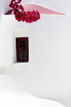 Chapel window, Mykonos, Greece