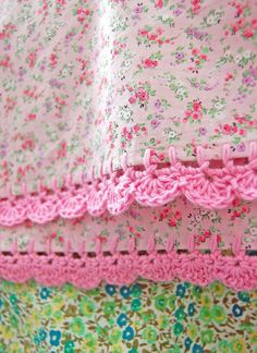 pillowcase with crochet trim - Too Sweet (pink) : pillowcase with crochet trim . : pillowcase with crochet trim – Too Sweet (pink) : pillowcase with crochet trim Too Sweet pink by rosehip on Etsy Homemade Pillow Cases, Homemade Pillows, Diy Pillows, Crochet Trim, Knit Crochet, Crochet Fabric, Cotton Crochet, Sewing Hacks, Sewing Crafts