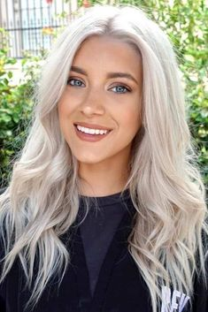 Amazing Platinum Blonde Hair #blondehair #blondecolor #longhair #platinumblondehair #blueeyes ❤️Do you consider blonde hair blue eyes girl to be the most beautiful in the world? We totally agree with you! Gorgeous blonde never goes out of style #lovehairstyles #blondehair #hairstyles #haircuts #haircolor
