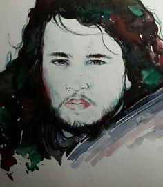 Jon Snow - Watercolor
