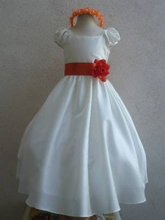 Hey, I found this really awesome Etsy listing at https://www.etsy.com/listing/157645208/flower-girl-dresses-ivory-with-orange