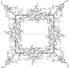 Floral Embroidery Patterns, Embroidery Stitches, Hand Embroidery, Embroidery Designs, Parchment Design, Parchment Craft, Colouring Pages, Coloring Books, Bordado Floral