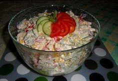 Csirkesaláta 2.- fogyisan recept képpel. Hozzávalók és az elkészítés részletes leírása. A csirkesaláta 2.- fogyisan elkészítési ideje: 35 perc Healthy Food Options, Healthy Recipes, Cold Dishes, Fitness Diet, Guacamole, Salad Recipes, Bacon, Salads, Food And Drink