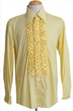 After Six Yellow Vintage 70s Shirt
