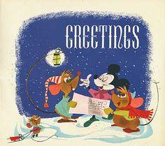 Illustration: Disney Christmas Cards - AnimationResources.org - Serving the Online Animation Community