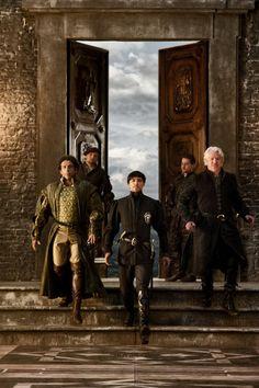 Elliot Levey as Francesco Pazzi, Blake Ritson  as Count Riario and Nick Dunning as Lupo Mercuri in Da Vinci's Demons (2013)