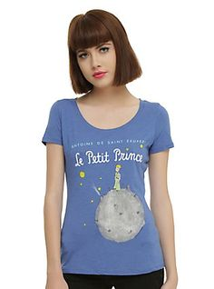 Le Petit Prince (The Little Prince) Book Cover Girls T-shirt,