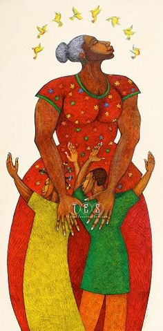 Mama Limited Edition Giclee by Charles Bibbs Image is watermarked for copyright protection and is not present on the actual art work.