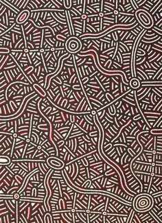 Leah Nampijinpa Sampson Ngapa Jukurrpa (Water Dreaming) - Pirlinyarnu Acrylic on linen, 107 x 76cm Warlakurlangu Artists Western Desert. For more Aboriginal art visit us at www.mccullochandmcculloch.com.au #aboriginalart #australianart #contemporaryart Cultural Appropriation, Aboriginal Art, Digital Art, Colours, Texture, Pattern, Australia, Island, Inspired