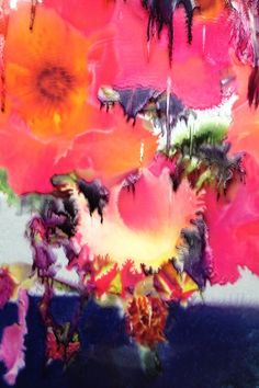 Fantastic bleeding floral manipulated photograph by Nick Knight Pattern Inspiration | Drippy Florals