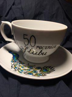 50ta rocznica ślubu I Cup, Tea Cups, Tableware, Mugs, Dinnerware, Tablewares, Dishes, Place Settings, Cup Of Tea