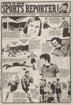 1970s TIGER magazine Pete our Sports Reporter - visits Molineux, home of Wolverhampton Wanderers.