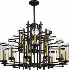 Maxim Lighting Lights   Maxim Lighting Chandelier Fixture Model 43749CLGB  Midtown LED 18 Light Pendant