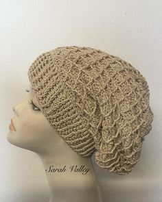 Crochet summer Beret, spring Beret, autumn Beret, ladies gifts, women's hats, slouchy beret, Baggy Beret, diamond hat
