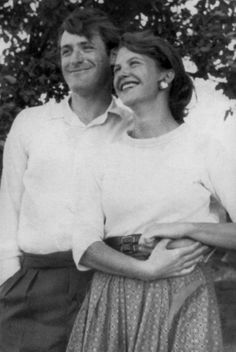 1956 Ted Hughes and Sylvia Plath in Yorkshire, England.