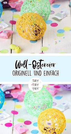 Display Wool Easter eggs / Make colorful Easter eggs out of wool. Make a versatile Easter decoration quickly and easily. Funny and sticky handicraft fun for children for Easter. Upcycled Crafts, Diy And Crafts, Crafts For Kids, Wood Crafts, Coloring Easter Eggs, Easter Colors, Artisanal, Easter Crafts, Handicraft