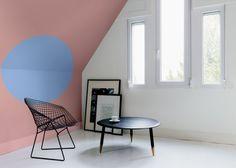 Die Farben des Jahres 2016 an der Wand: Rose Quartz et Serenity Pantone® #KOLORAT#Wandfarbe #streichen