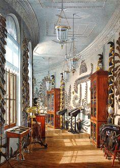 Гатчинский дворец в акварелях Эдуарда Гау