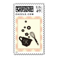 Vintage Kitchen Postage Stamp. This great stamp design is available for customization or ready to buy as is. Of course, it can be sent through standard U.S. Mail. Just click the image to make your own!