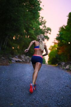 Running off into the sunset #running #cardio #workout