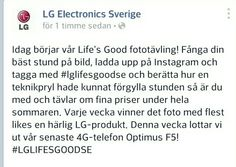 LG Sweden competition with Instagram