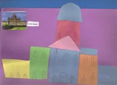 Make an English Castle with paper collage!