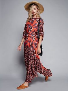 Frida Aasen || FP Paloma Printed Maxi Dress (Cayenne Combo)