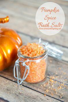 Pumpkin Bath Salts Tutorial by Simply Designing