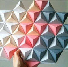 diy wall decor paper. Origami Deco  Instagram Kinuko DIY Geometric Paper Wall Art Walls Pieces And Easy