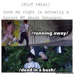 ... Seems legit. Explains why Kyungsoo was seen in a dark theater plotting his evil ways...