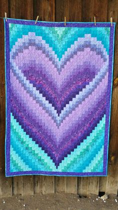 Heart Bargello Quilt, Wall Hanging, by CharlottesBliss on Etsy Bargello Quilt Patterns, Bargello Quilts, Batik Quilts, Quilt Patterns Free, Bargello Needlepoint, Broderie Bargello, Cross Stitch Quotes, Purple Quilts, Carlin