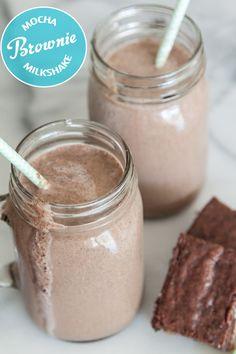 Mocha brownie milkshake from  What's Gaby Cooking