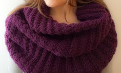 Plum color neckcowl by Tatyana Kildisheva, via Flickr - Falling in love with plum for fall!