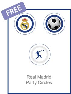 Real Madrid Party Circles - FREE PDF Download