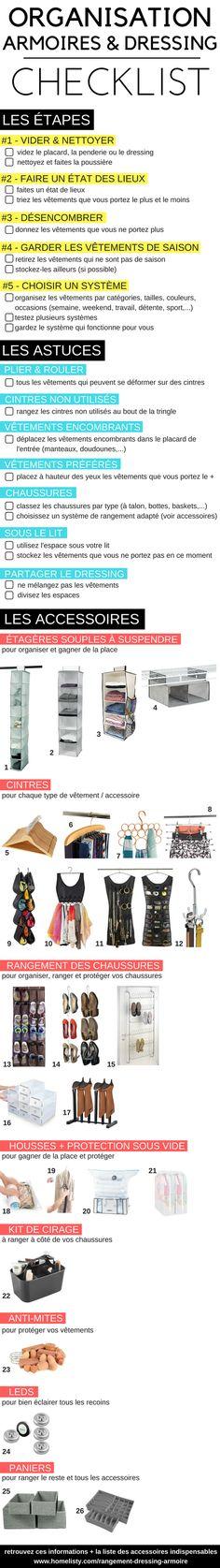 La checklist pour organiser et ranger vos armoires et votre dressing