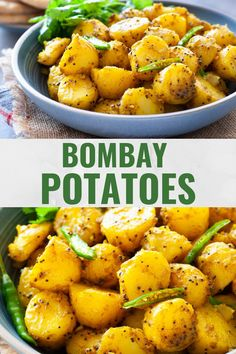 Indian Bombay potatoes made in the instant pot or stovetop are a delight to eat with naan bread. Baby potaotes are steamed then tossed in just three spices for an authentic recipe thats also quick and easy! Vegan and gluten-free. Aloo Recipes, Curry Recipes, Vegetarian Recipes, Cooking Recipes, Healthy Recipes, Indian Potato Recipes, Baby Potato Recipes, Indian Food Recipes, Bombay Aloo Recipe