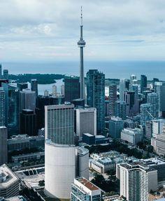 Toronto Skyline, Downtown Toronto, Torre Cn, Toronto Ontario Canada, Moving To Canada, Cn Tower, Cities, Scenery, Photographs