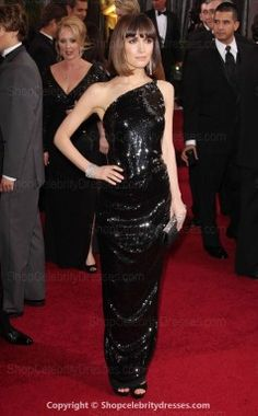 Rose Byrne 2012 Oscar Sheath/Column One Shoulder Floor-length Dresses(SCD108)