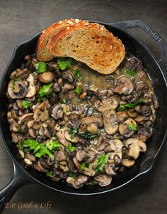 Mushroom ragout. You can serve this w/ quinoa, grilled chicken, pasta or just bread. #glutenfree #cleaneating
