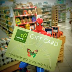 """""""Devi fare un regalo ma...non trovi l'idea giusta? Con la Gift Card NaturaSí puoi donare la libertà di scegliere tra 4000 prodotti biologici."""" Scopri come: http://www.naturasi.it/it/promozioni/regala-il-bio/gift-card #giftcard"""