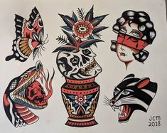 Traditional Japanese Tattoo Sleeve, Traditional Tattoo Sketches, Traditional Tattoo Flowers, Traditional Tattoo Old School, Traditional Tattoo Design, Traditional Tattoo Flash, Japanese Sleeve Tattoos, Old Tattoos, Black Ink Tattoos