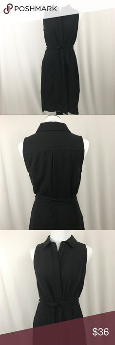 "Laundry by Shelli Segal Black Button Front Dress Laundry by Shelli Segal Black Button Front Dress. Ties at the waist. Size 6. Bust measures 17"". Length measures 38"". Very classy! 100% polyester. Excellent preowned condition, like new. No trades, offers welcome. Nordstrom Dresses Midi"