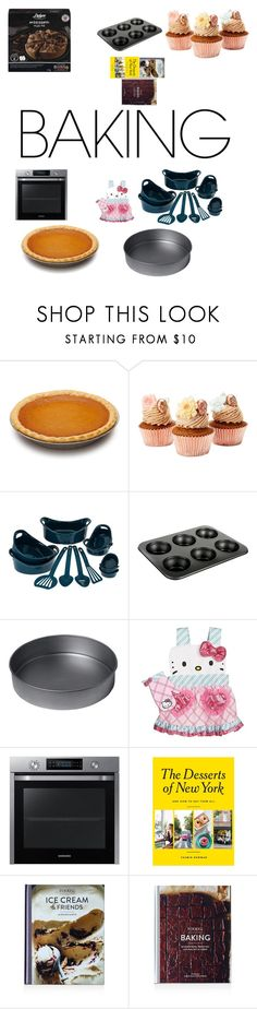 """""""I Need Sweeet Food"""" by ethalinfinity ❤ liked on Polyvore featuring interior, interiors, interior design, home, home decor, interior decorating, Rachael Ray, Denby, Chicago Metallic and Hello Kitty"""