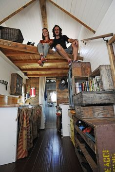 Tiny Home - note design of the bed loft and its access