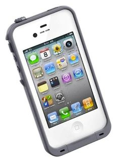 LifeProof iPhone 4/4s Fre White/Gray 1001-02