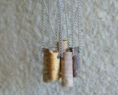 Drilled Bead DIY Crafts Unisex Jewelry Polished Fossil Gifts Pendant Orthoceras Fossil