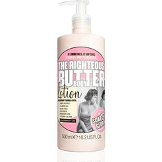 Soap and Glory Righteous Butter Lotion. Smells so good I wish it was edible!