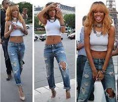 Hisptration on Pinterest | High Wasted Shorts Rihanna Fashion and Rihanna