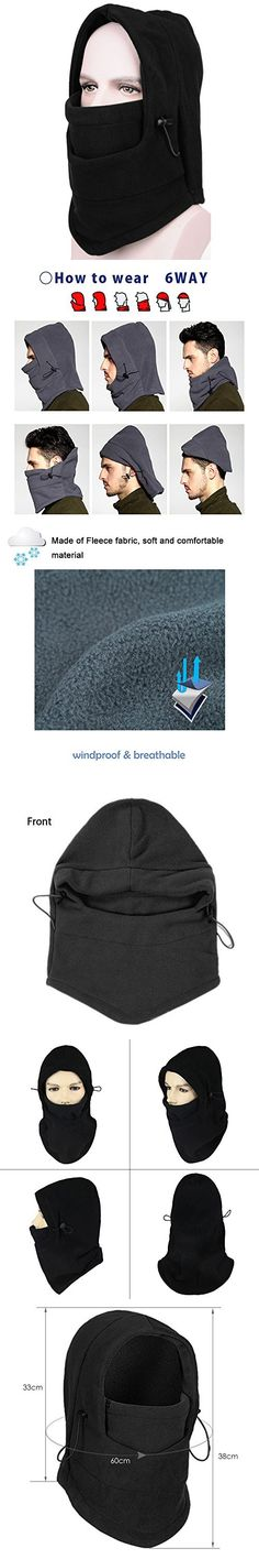 b88b8e2651d Ayamaya Fleece Thermal Balaclava Hood Neck Cover Ski Windproof Full Face  Mask